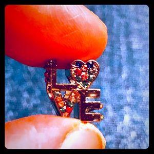 """Jewelry - """"LOVE """" Charm in Silvertone"""